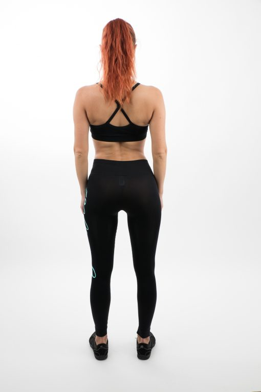 Go Young Beauty - 520 Blue Fitness Outfit Back